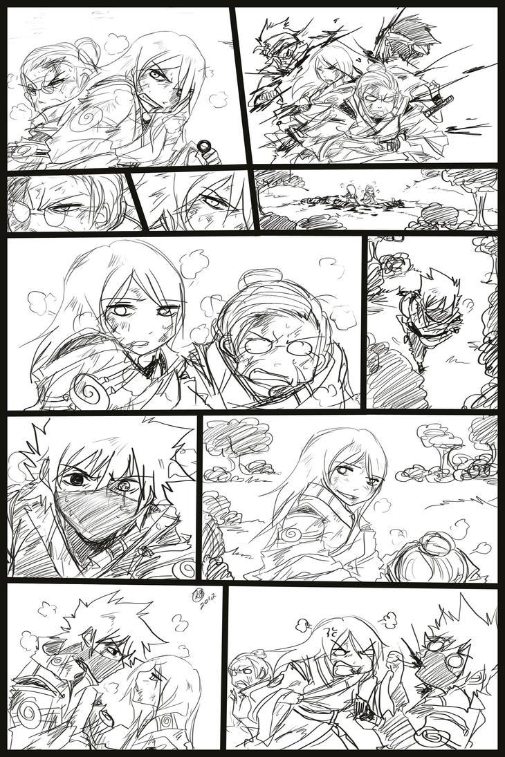 Kakashi and Anko comic scrap2 by KickBass77