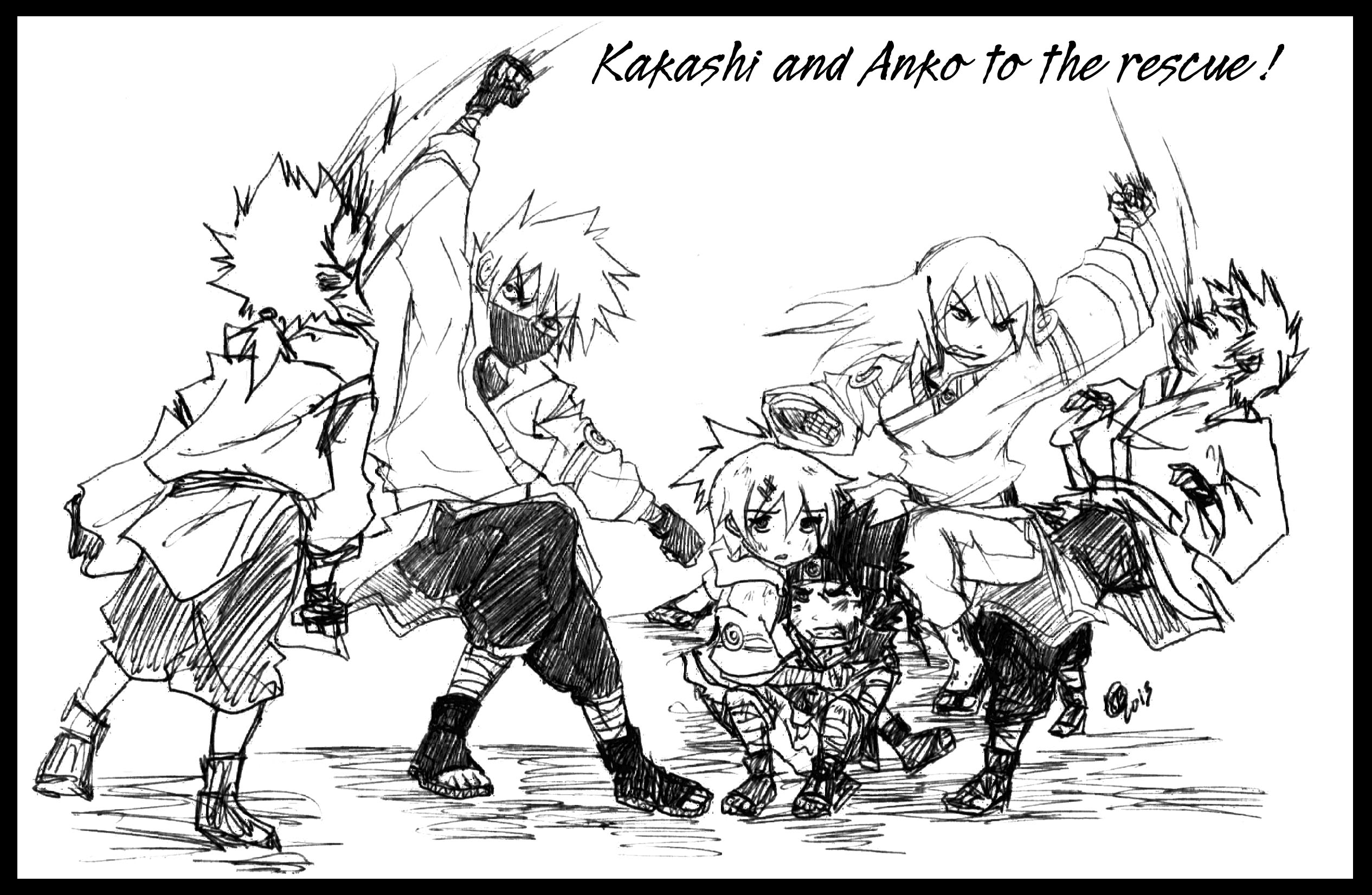 Kakashi and Anko : In Time by KickBass77