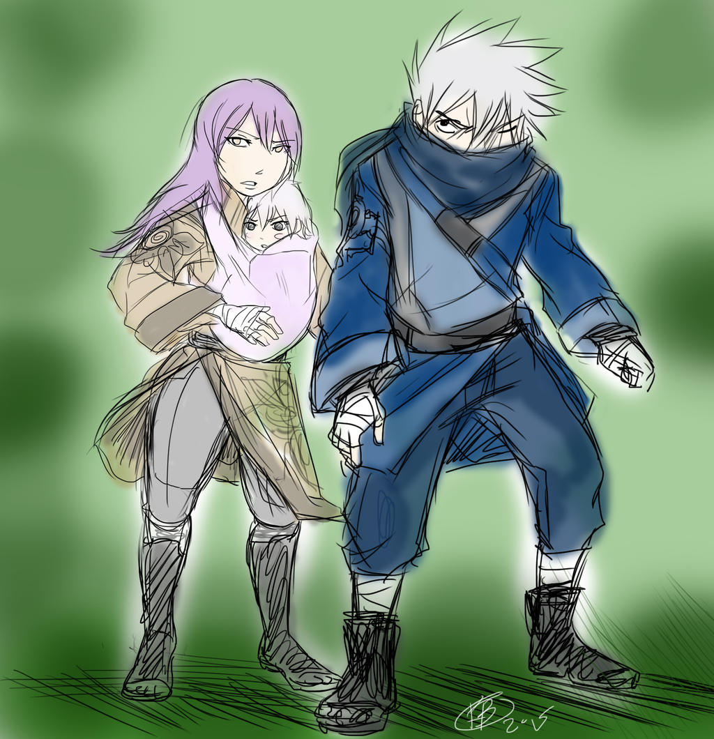 Kakashi and Anko protect by KickBass77 on DeviantArt