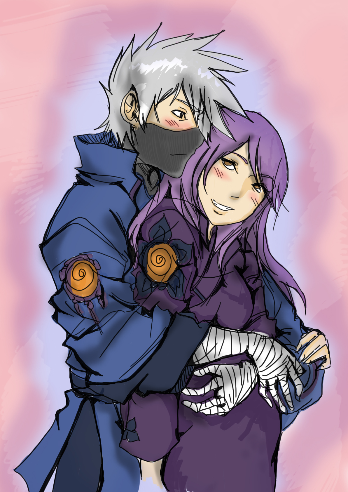 Kakashi and Anko Happy by KickBass77 on DeviantArt