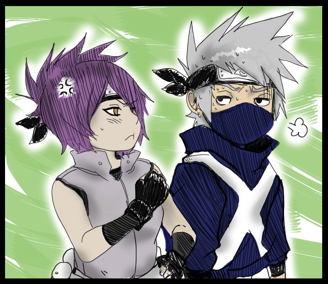 Kakashi and Anko : Youngdays.2 by KickBass77 on DeviantArt
