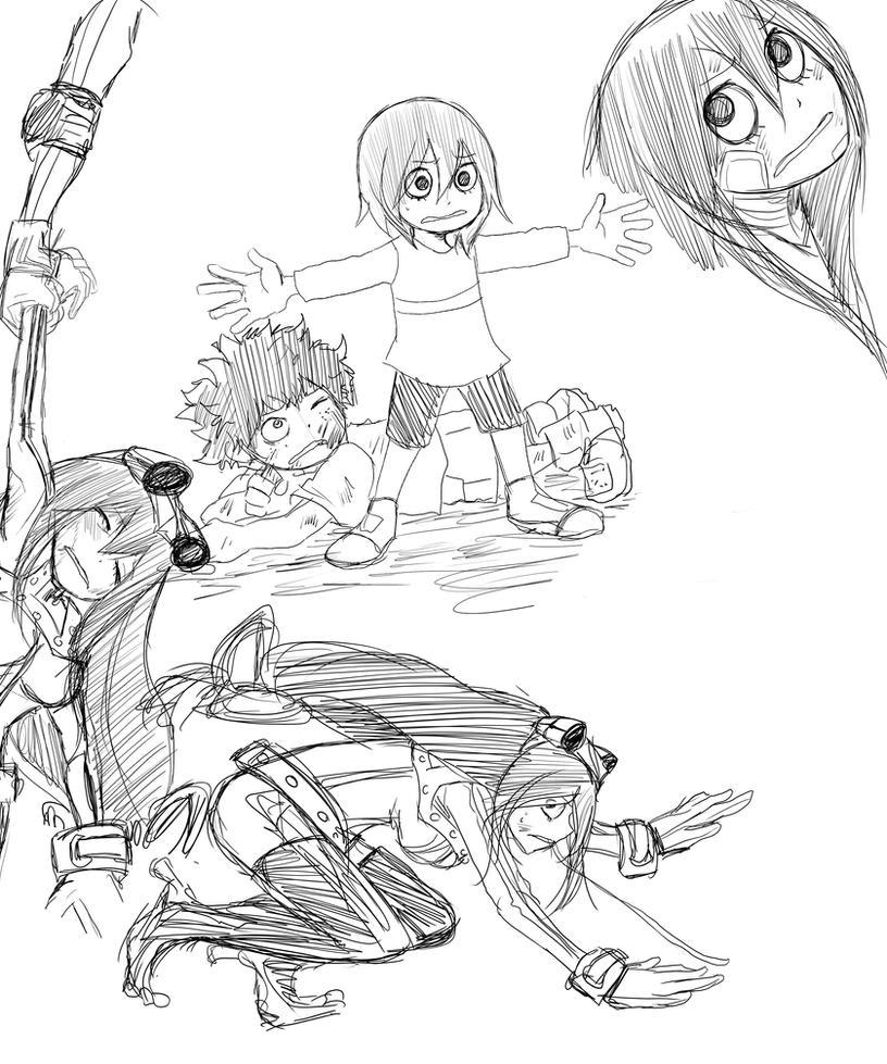 Boku no Academia Izuku and Tsuyu sketch2 by KickBass77 on ...