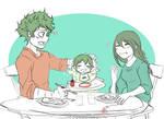 Izuku and Tsuyu - Family Diner