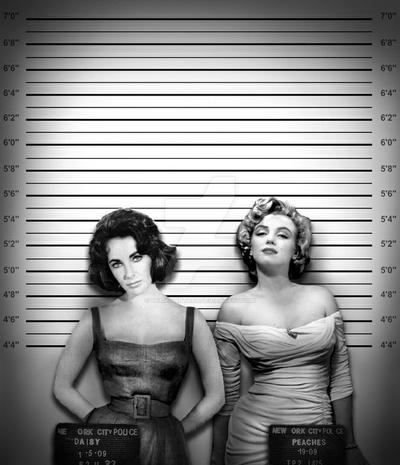 Marilyn and Liz in 'Daisy and Peaches'