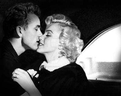 Marilyn Monroe I James Dean 'Kiss' by Brailliant