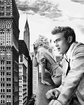 Marilyn Monroe and James Dean by Brailliant ver. 2