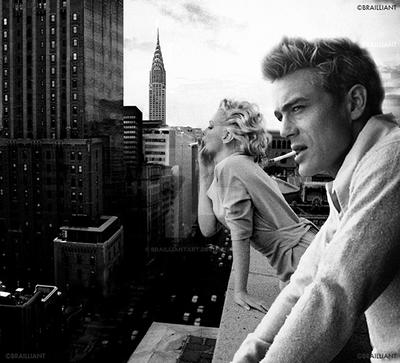 Marilyn Monroe And James Dean By Brailliant Ver 1 By Brailliantart