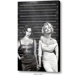 Elizabeth Taylor + Marilyn Monroe, brailliant.com