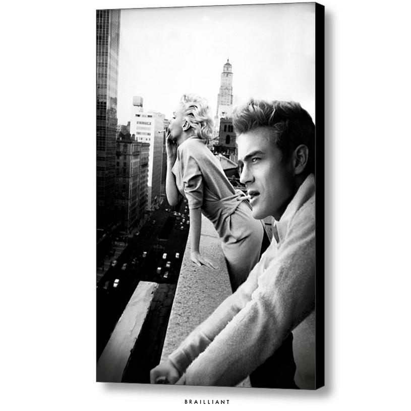 James Dean + Marilyn Monroe, Rooftop Smoking