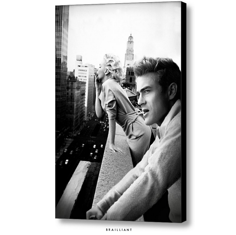 James Dean + Marilyn Monroe Rooftop Smoking by BRAILLIANTart ...  sc 1 st  DeviantArt & James Dean + Marilyn Monroe Rooftop Smoking by BRAILLIANTart on ...