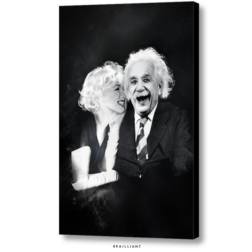 Marilyn Monroe + Albert Einstein Beauty Brain 2015