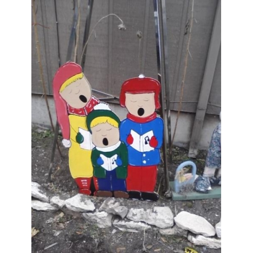 Christmas Carolers Yard Decorations: Christmas Carolers Holiday Yard Decorations By Al3001 On