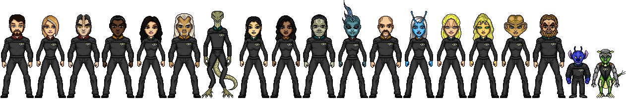 Crew of the USS Titan by cptmeatman