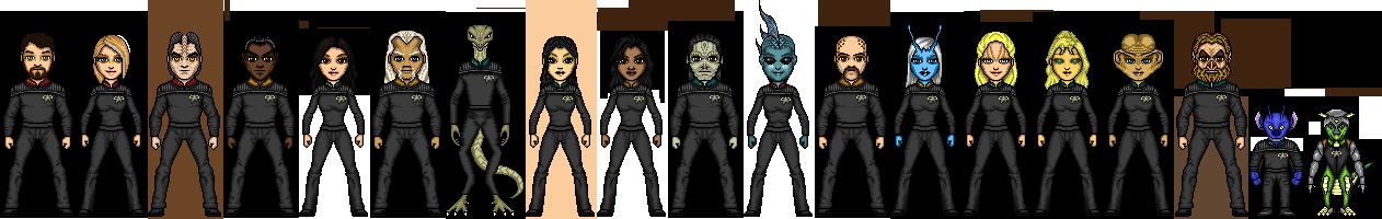 Crew of the USS Titan by cptmeatman