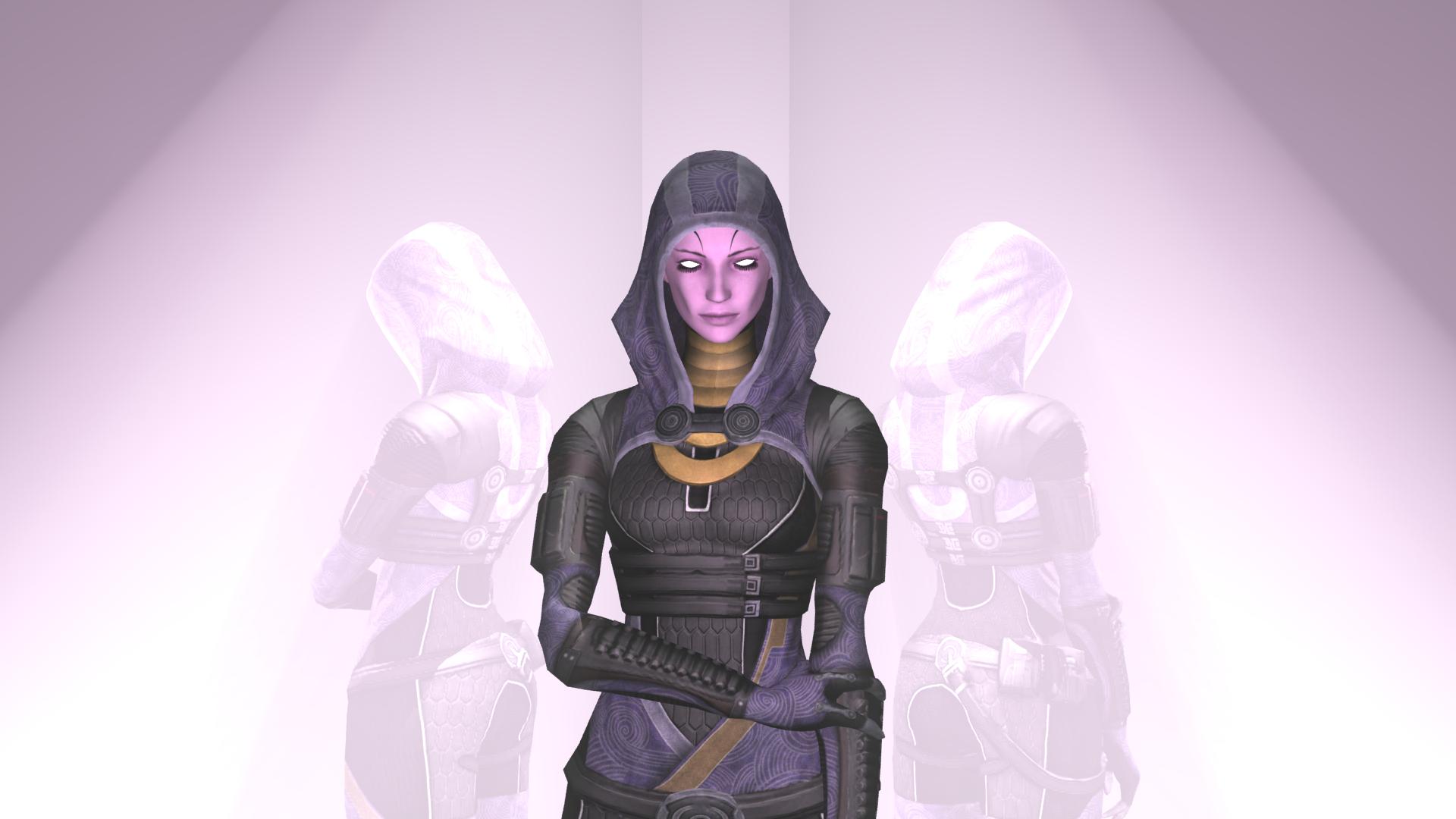 Mass Effect Tali Unmasked Tali unmasked pose 2 (no