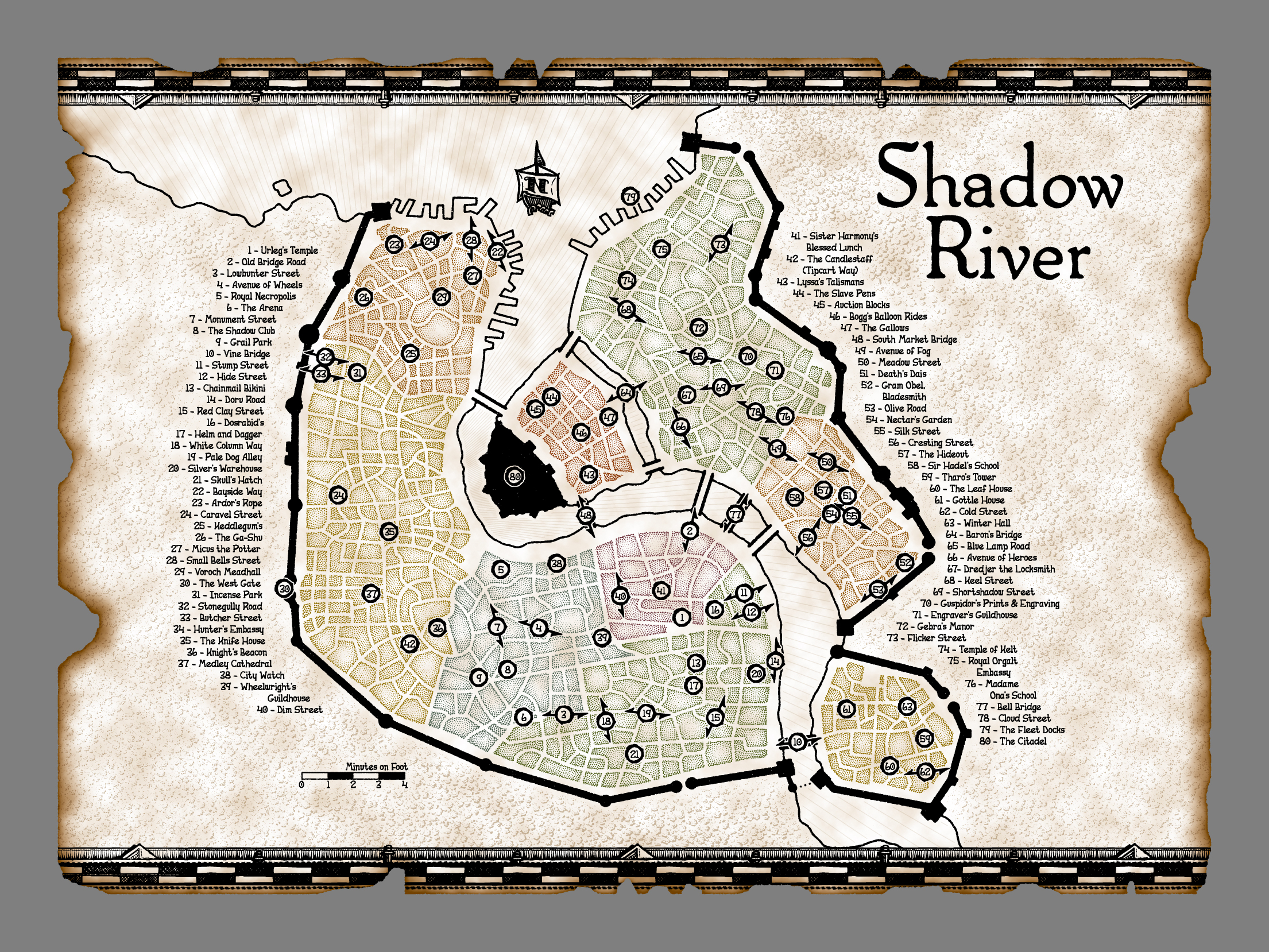 Shadow River - Main City Map