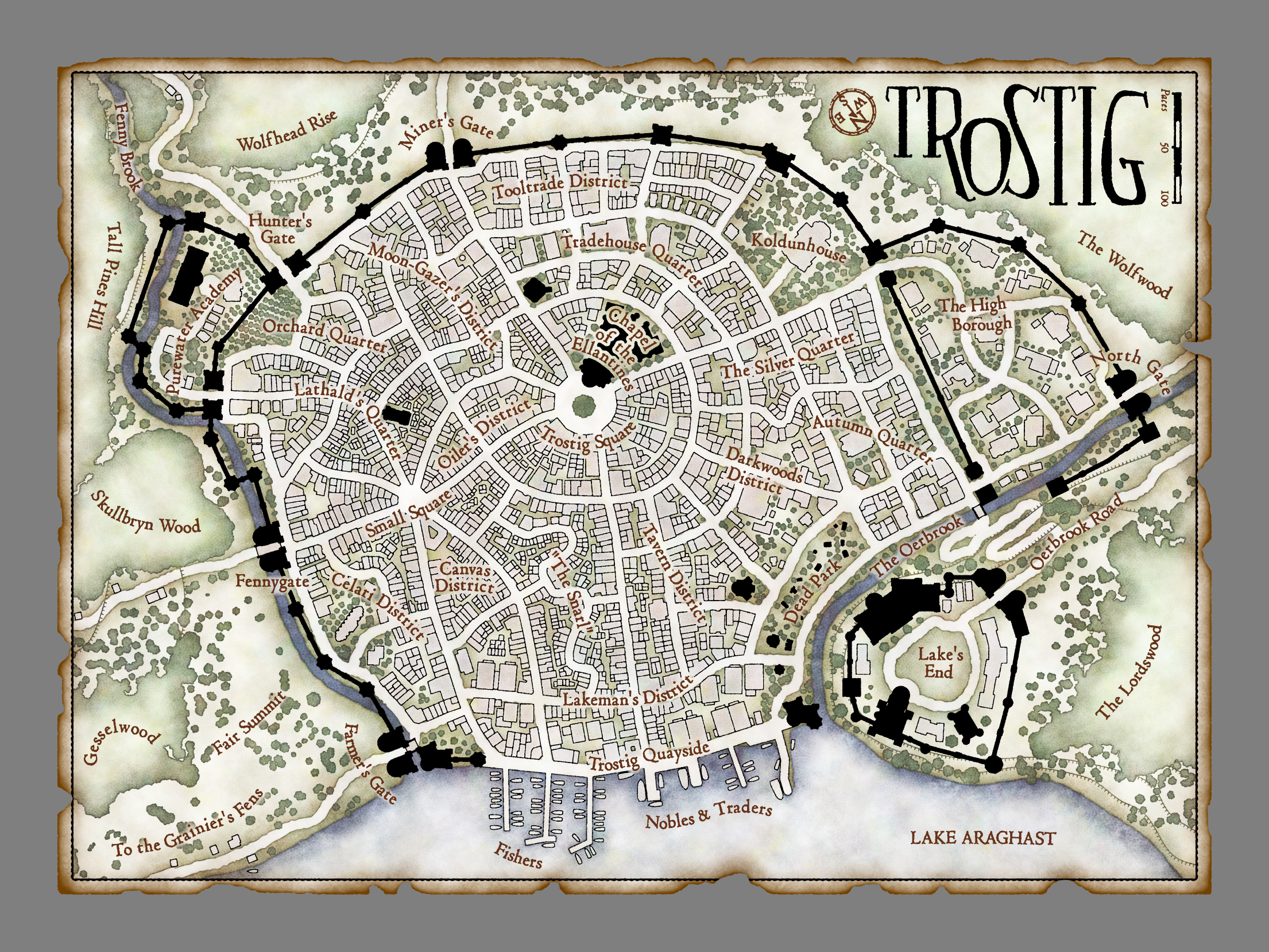 Trostig Town Plan (Side A)