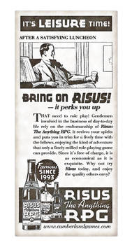 Risus The Anything RPG 1930s Style Ad