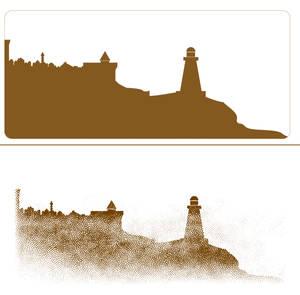 Uresia - Caravel - The Lighthouse Silhouette