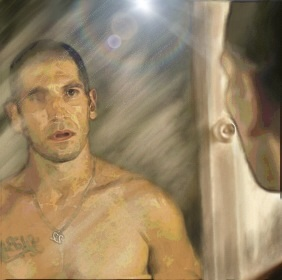 Shane Walsh The Walking Dead Mirror by Sandy-reaper