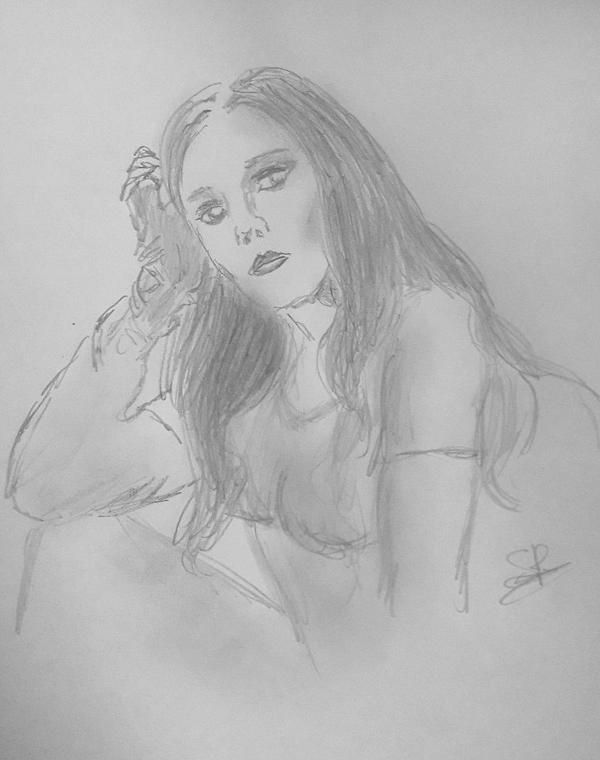 Wanda Maximoff.. 5 min sketch by Sandy-reaper