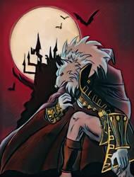 a castlevania wolf lol  by Sandy-reaper
