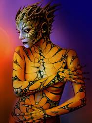 Lizard girl by Sandy-reaper