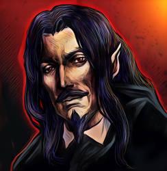 Dracula castlevania by Sandy-reaper