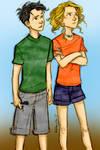 Percy and Annabeth as children - by Burdge-