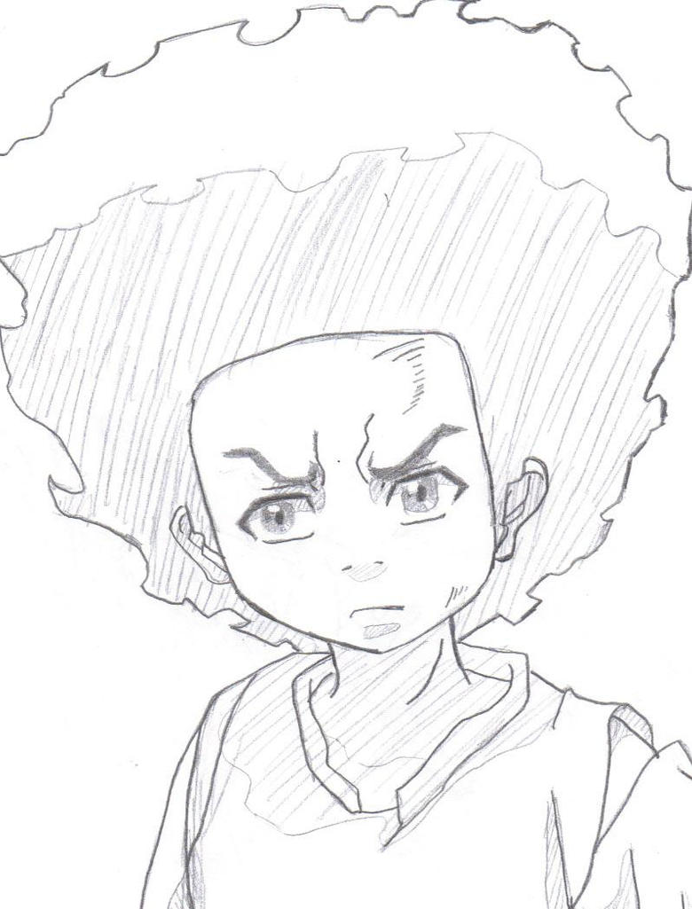 huey freeman by sacredflameheart on deviantart the boondocks riley wallpaper