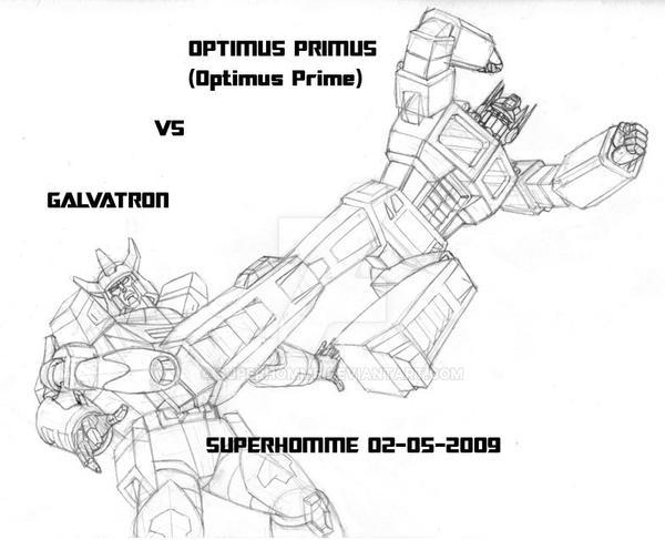 Optimus Prime VS Galvatron