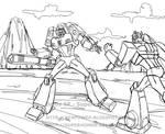 Megatron and Optimus Animated