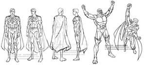 Superman model sheet - Darkseid and Superman