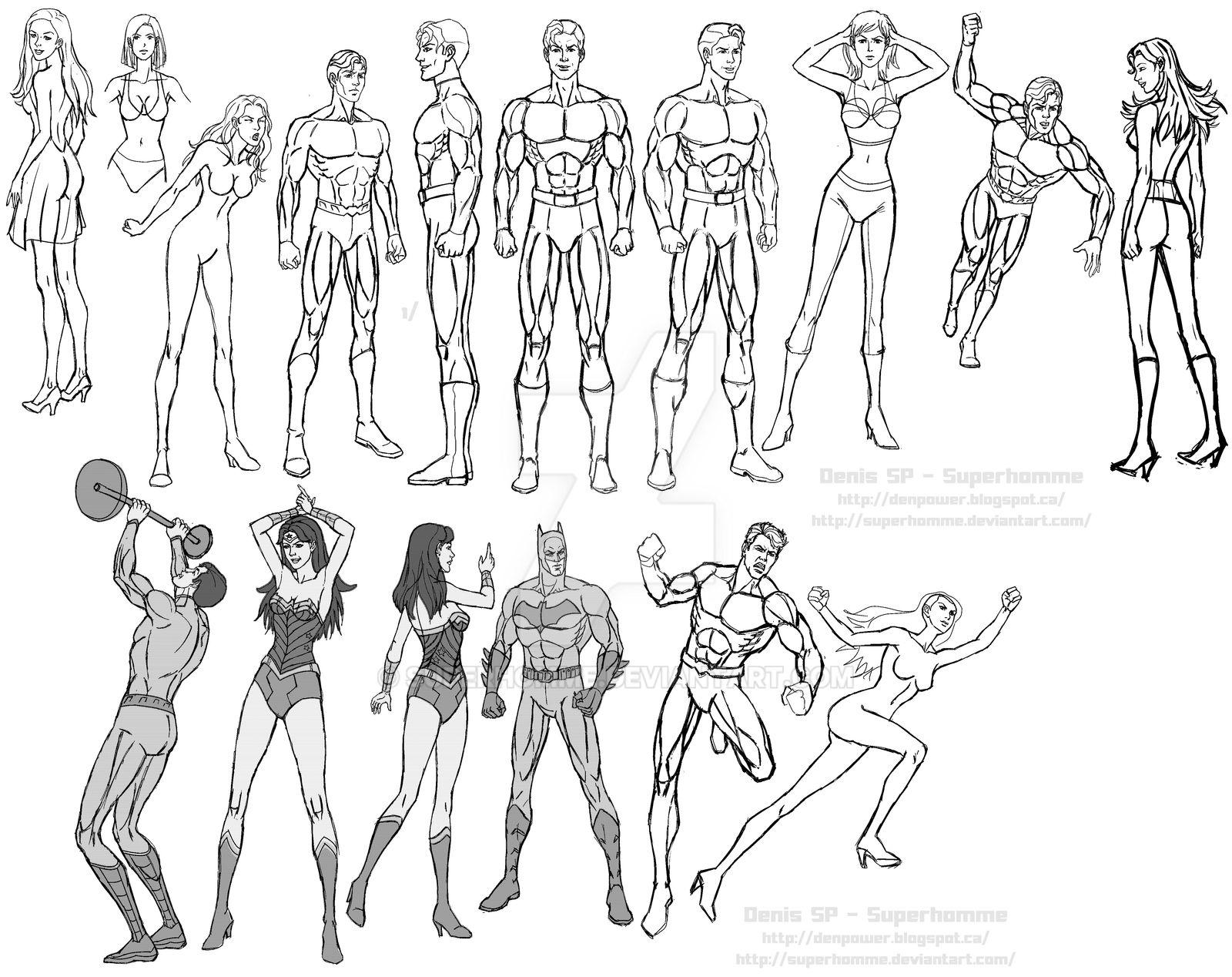 Sketch: Mens and Womens - Superheros