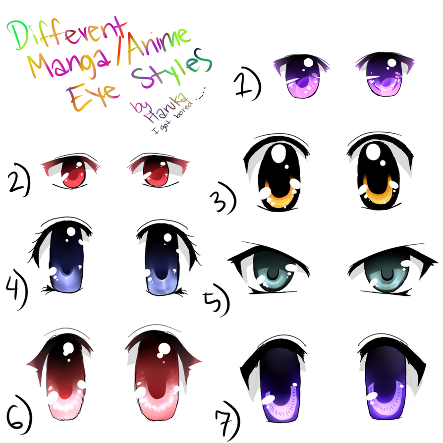 Different Anime eyes by Sweetie-Haruka15 on DeviantArt