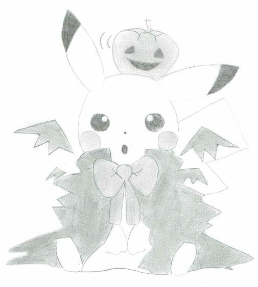 Pikachu Halloween by Rominkuo