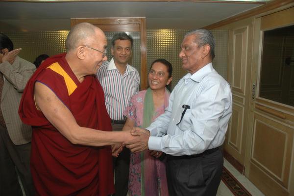 Prabodh Kirtilal Mehta with Dalai Lama by PrabodhMehta