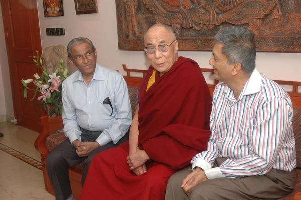 Prabodh Mehta with Dalai Lama by PrabodhMehta