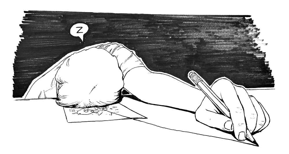 Inktober 2018 Day 7 - Exhausted by chriskot