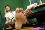 Xiomara smelly wrinkled soles III by mylatinfeet