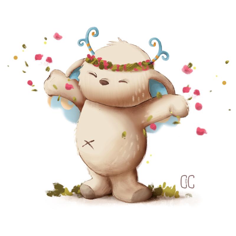 Happy monster by CookiesOChocola