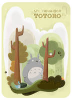 My neighbor Totoro by CookiesOChocola