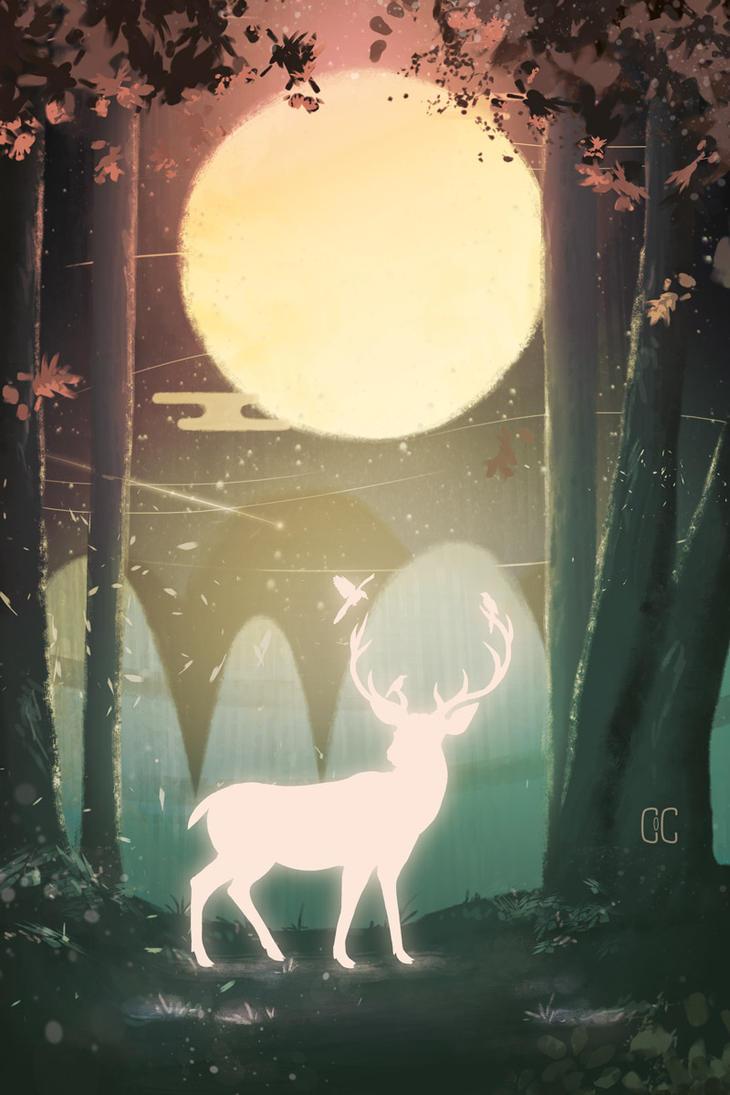 FRIENDS - Deer/birds by CookiesOChocola