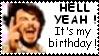 Stamp - my... HA HA HAA... BIRTHDAAAAY by Mloun