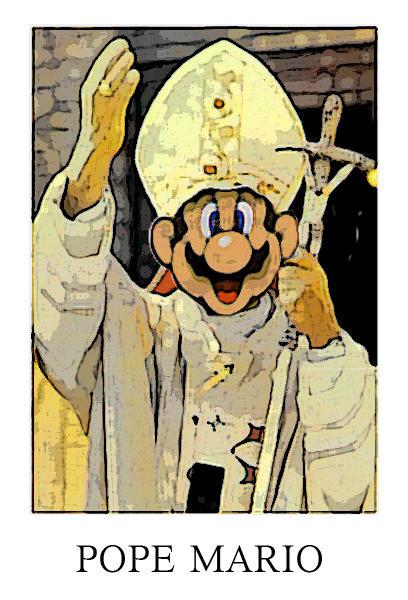 Pope Mario by super-mario