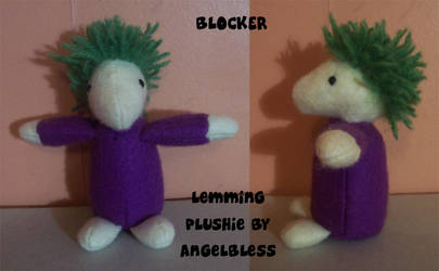 Blocker - Lemming plushie by AngelBless