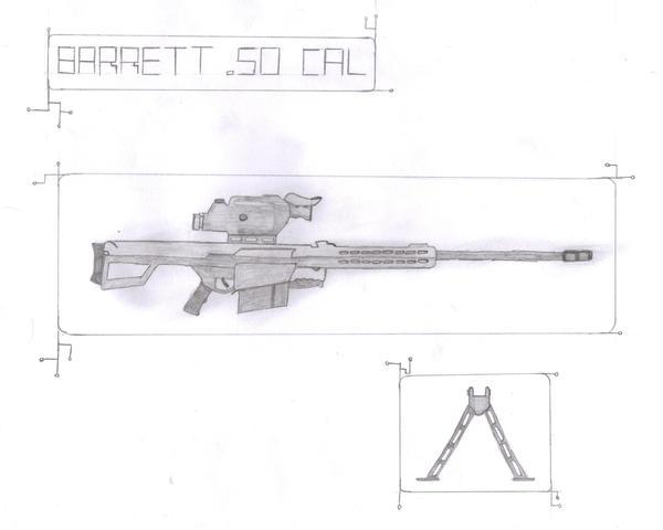 barrett 50 cal. Barrett .50 Cal Sniper Rifle