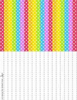 Rainbow Splash Stars Set 1 by blackheartqueen