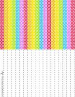 Rainbow Splash Stars Set 4 by blackheartqueen