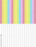 Rainbow Splash Stars Set 5 by blackheartqueen
